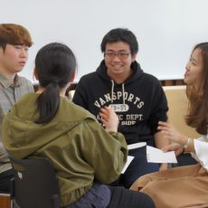 Practice of communication by the language we are learning class