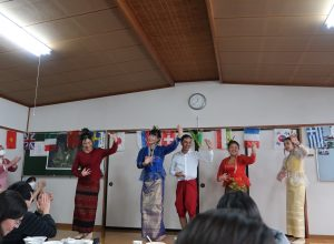 International Students joined Rice Cake festival at Kikyono