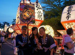 ねぷた祭りに留学生が参加しました